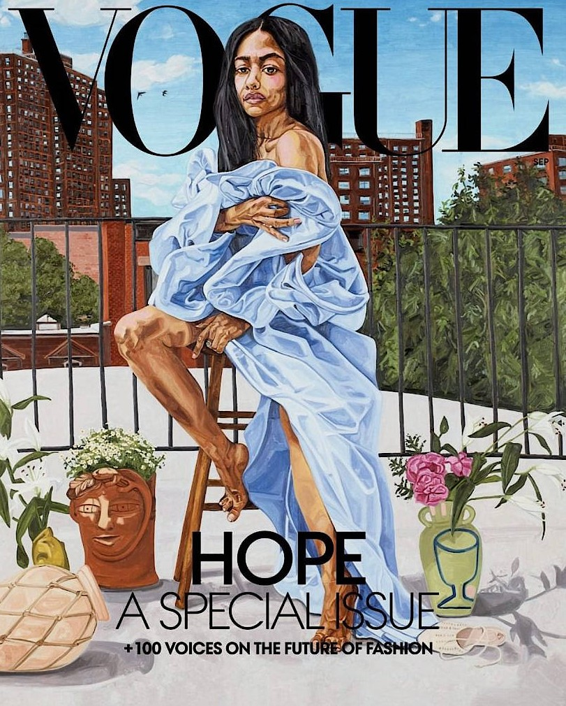 """Jordan Casteels Coverbild für die """"Vogue""""."""