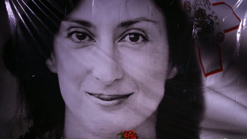 Gedenken: Die Journalistin Daphne Caruana Galizia wurde am 16. Oktober 2017 durch eine Autobombe getötet.