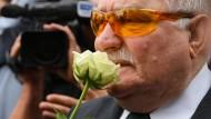 An ihm kommen selbst die Revisionisten aus der polnischen Regierung nicht vorbei: Lech Walesa.