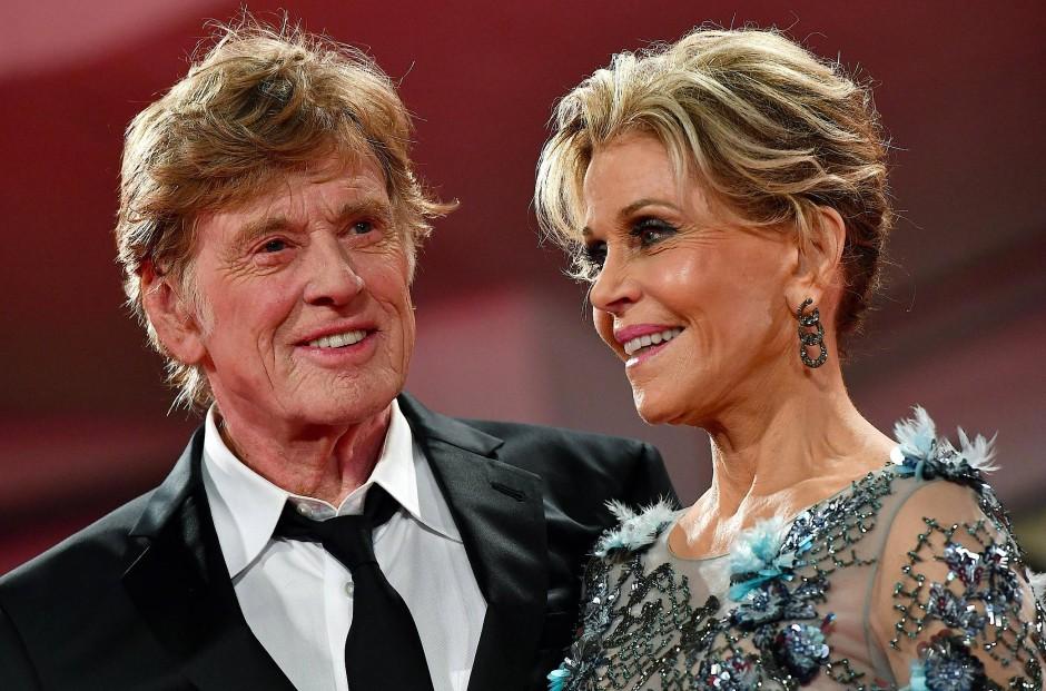 Ein außergewöhnliches Filmpaar: Robert Redford und Jane Fonda bei den Filmfestspielen von Venedig im September dieses Jahres.