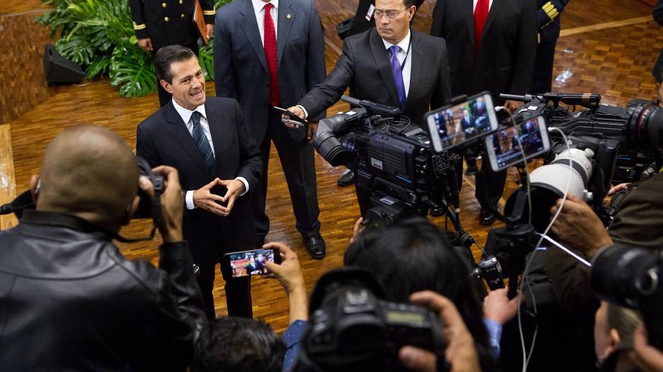 Er brauchte etwas länger für eine Antwort auf den Skandal: Mexikos Präsident Enrique Peña Nieto.