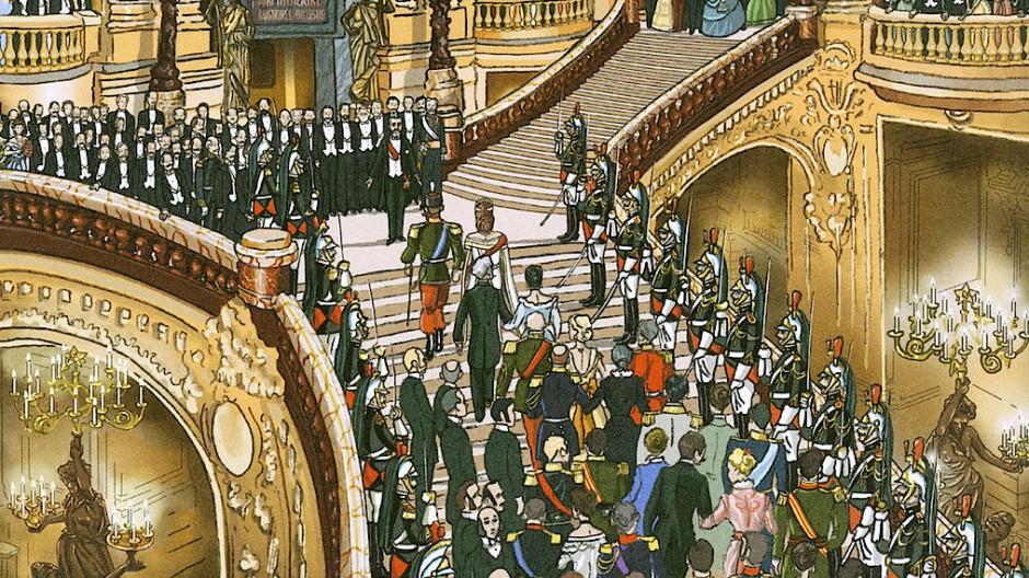 Als könnte das Fin de Siècle niemals enden: Die Pariser Hautevolee gibt sich bei einem Monarchenempfang die Ehre.