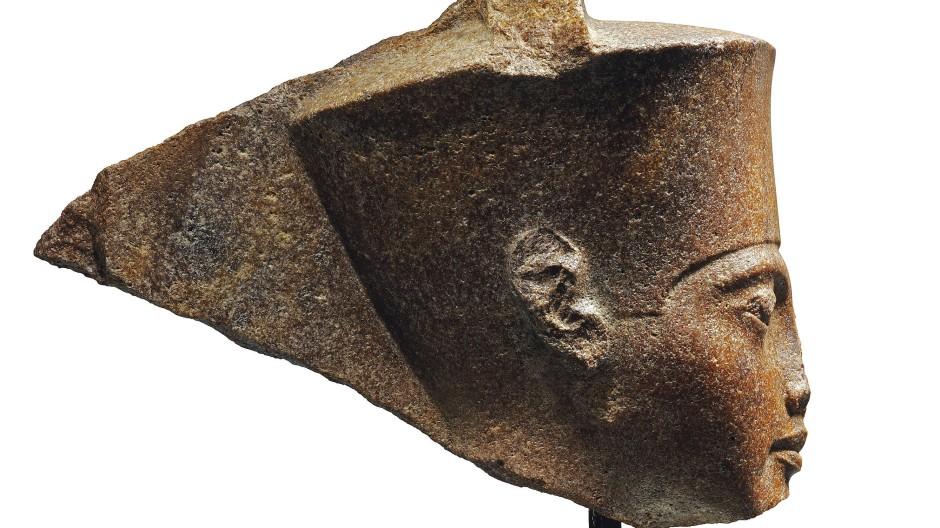 Dreitausend Jahre alt: Die Steinskulptur, die den Pharao Tutanchamun zeigen soll.