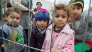 Um sie sollte die freiheitliche Gesellschaft werben: Kinder in einem Flüchtlingslager im hessischen Wetzlar.