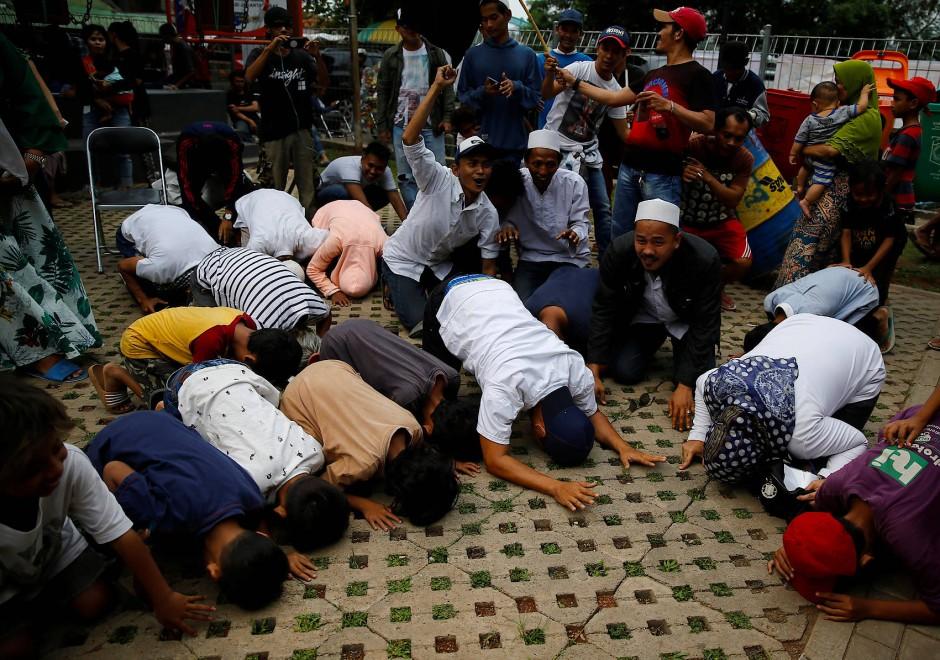 Danksagung: Unterstützer von Anies Baswedan in Jakarta.