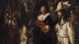 """Rembrandts """"Nachtwache"""" wird vor aller Augen restauriert"""