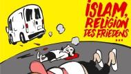 """Immerhin wird jetzt wieder diskutiert: Das Cover der deutschsprachigen Ausgabe von """"Charlie Hebdo""""."""