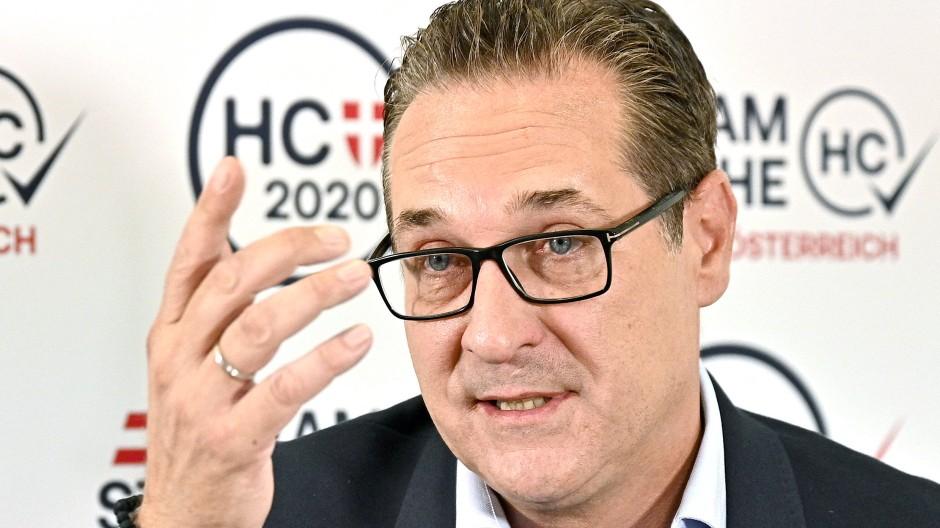 Einst auf Ibiza, jetzt Kandidat mit eigener Kleinstpartei in Wien: Heinz-Christian Strache.
