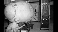 """Die Bombe """"Fat Man"""" wurde am 9. August 1945 über Nagasaki abgeworfen."""
