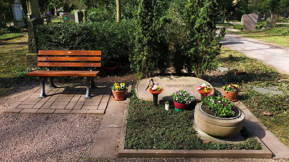 In Pflege: Das Ehrengrab der Volksschauspielerin Liesel Christ auf dem Frankfurter Hauptfriedhof.