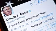 Ohne Twitter geht es nicht: Der Kurznachrichtendienst scheint für Donald Trump wie geschaffen.