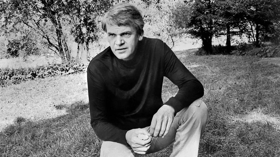 Milan Kundera im Jahr 1973 in Prag.