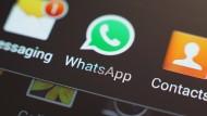 """Von wegen Textsicher: Ein Ziel von Skygofree ist die populäre Messenger-App """"Whatsapp""""."""