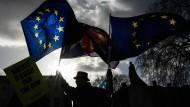 Das Problem mit dem Thema Brexit: Abgesehen von einigen tapferen Demonstranten interessiert es in Großbritannien kaum noch jemanden.
