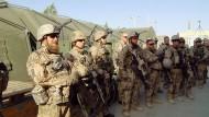 Auf Außenposten: Bundeswehrsoldaten im afghanischen Maimana.