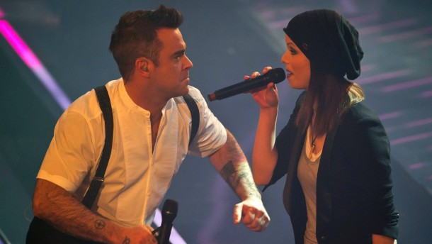 Robbie Williams mit Isabell Schmidt.