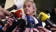 Reizfigur: Geert Wilders nach der Wahl in den Niederlanden, bei der er seine selbstgesteckten Ziele deutlich verfehlte.