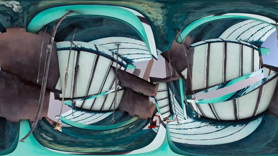 """Die Arbeit """"Here We Are"""" von The Swan Collective."""