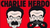 """Nichts sagen, nichts hören, nichts sehen: So zeichnet """"Charlie Hebdo"""" den Journalisten Edwy Plenel."""