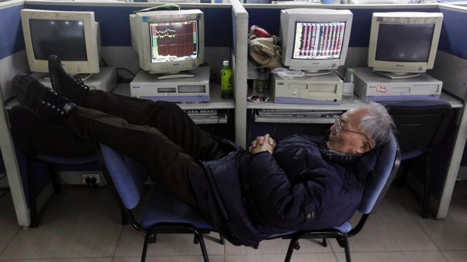 Werden auch Journalisten bald eine solche Haltung einnehmen? Chinesischer Investor in Wuhan