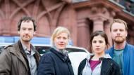 """Demnächst nur noch zu Dritt: Jörg Hartmann, Anna Schudt und Aylin Tezel bleiben beim """"Tatort"""" aus Dortmund, Stefan Konarske (rechts) hört auf."""