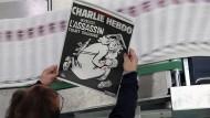 """Andruck: Am Mittwoch erscheint die Gedenk-Ausgabe von """"Charlie Hebdo"""" mit einer Auflage von einer Million Exemplaren."""