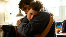Wenn der kleine Sohn mit dem Vater