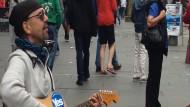 Gesangseinlage für die schottische Unabhängigkeit