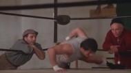 Rocky im Training