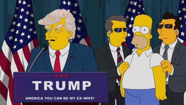 """""""Die Simpsons"""" warnten vor Trump als Präsident"""