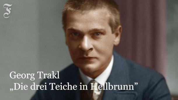 """Georg Trakl: """"Die drei Teiche in Hellbrunn"""""""