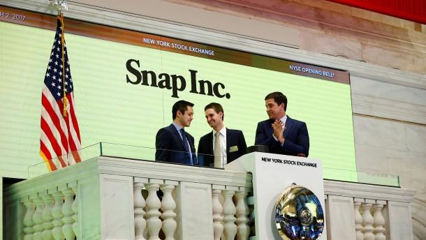 Snapchat feiert Traumstart an der Wall Street