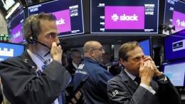 Slack-Aktienkurs schießt bei Börsendebüt in die Höhe
