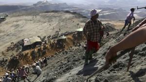 Schlimm geht es zu in Burmas Jade-Minen