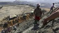 Minen-Arbeiter in Burma. Das Land lebt zu weiten Teilen von seinen Bodenschätzen.