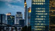 Blick auf die Bankentürme in Frankfurt.