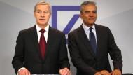 Jürgen Fitschen und Anshu Jain - der Vorstand der Deutschen Bank hat keine guten Nachrichten für seine Aktionäre