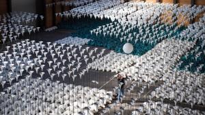 Mauerfall-Luftballon fliegt bis nach Lettland