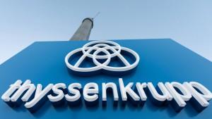 Thyssen-Krupp-Chef erwartet Abstieg aus Dax
