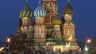 Die Kathedrale St. Basil auf dem Roten Platz in Moskau.