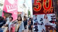 Japans Verbraucherpreise sinken wieder.