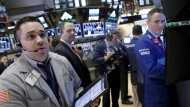 Händler an der New Yorker Börse. Bankaktien entwickelten sich zuletzt stark.