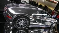 Bugatti Veyron auf einer Automesse – Das Modell war auch bei den von Schweizer Behörden gesuchten Verdächtigen beliebt