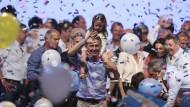 Noch kann Argentiniens neuer Präsident, Mauricio Macri, feiern