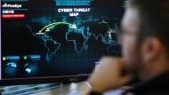Auf dem Schirm: Die Aktienkurse von IT-Sicherheitsfirmen profitieren kurzfristig von Hackerangriffen.