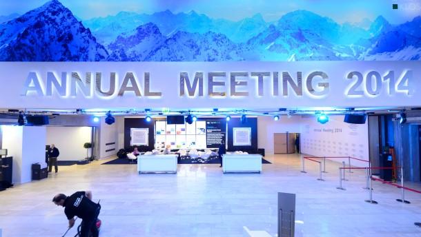 Erster voller Tag des Weltwirtschaftsforums