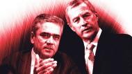 Die Co-Vorstandsvorsitzenden der Deutschen Bank, Anshu Jain (l.) und Jürgen Fitschen