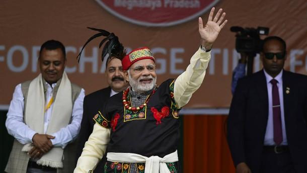 Indiens Modi kann heute seine Macht festigen