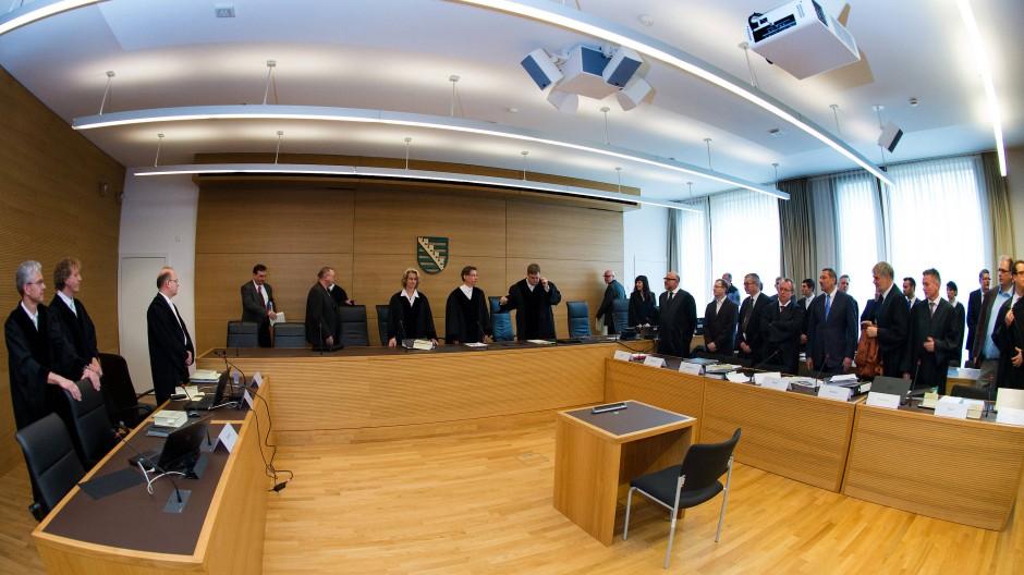 Strafprozess im Fall der Finanzgruppe Infinus in Dresden 2015