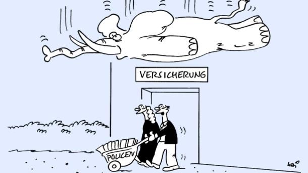 Karikatur / Kai / Gegen alle Risiken abgesichert